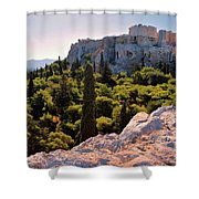 Acropolis In The Morning Light Shower Curtain