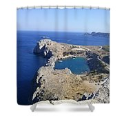 Acropolis Of Lindos Rhodes Shower Curtain