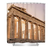 Acropolis Parthenon At Sunset Shower Curtain