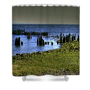 Across The Bridge Shower Curtain