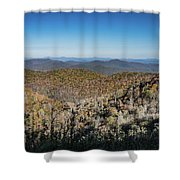 Across The Divide Shower Curtain