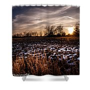 Across The Frozen Fields  Shower Curtain
