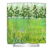 Across The Meadow Shower Curtain by Jennifer Lommers