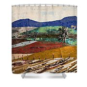 Across The Meadow Shower Curtain