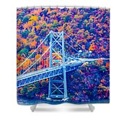 Across The Other Side Of Bear Mountain Bridge Shower Curtain