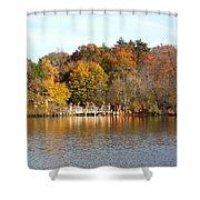 Across The Pond Shower Curtain