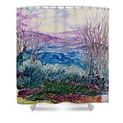 Across The Ridge In Winter Shower Curtain