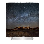 Across The Universe - Milky Way Galaxy Over Mesa In Arizona Shower Curtain