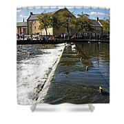 Across The Weir At Bakewell Shower Curtain