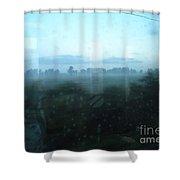Across This Horizon Shower Curtain