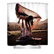 Acroyoga Curves Shower Curtain