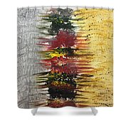 Acrylic Abstract Vertical 15-y.yyy Shower Curtain