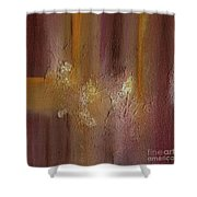 Acrylic Abstract Painting Clouds Shower Curtain