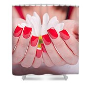 Acrylic Nail Shower Curtain