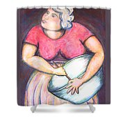 Acrylic Painting Figurative Shower Curtain