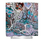 Acrylic Pour #10 Shower Curtain