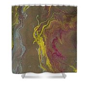 Acrylic Pour 2855 Shower Curtain by Sonya Wilson