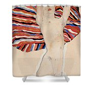 Act Against Colored Material Shower Curtain