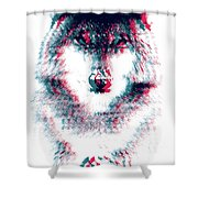 Act Like A Wolf Shower Curtain