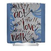 Act Love Walk Shower Curtain