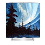 Actic Aurora Shower Curtain