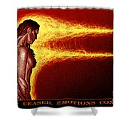 Action Ceased, Emotions Continue Shower Curtain