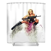 Action Girl Shower Curtain