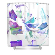 Action In Pastel Shower Curtain