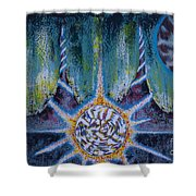 Activating The Ion Shield  Shower Curtain