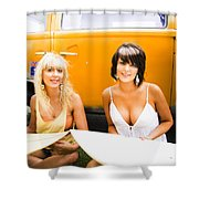 Active Healthy Lifestyle Shower Curtain