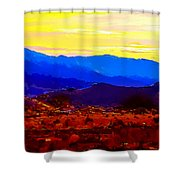 Acton California Sunset Shower Curtain
