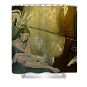 Adagio  Sentimental Confusion Shower Curtain
