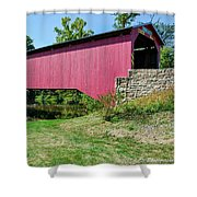 Adairs/cisna Mill Covered Bridge Shower Curtain