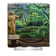 Adam And Eve Display Shower Curtain