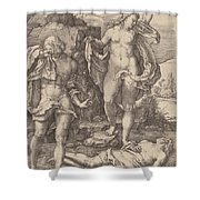 Adam And Eve Lamenting The Death Of Abel Shower Curtain
