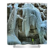 Adam Jewell At Maligne Canyon Shower Curtain