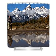 Adam Jewell At Schwabacher Landing Shower Curtain