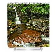 Adams Falls Landscape Shower Curtain