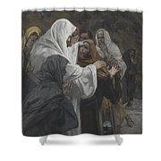 Address To Saint Philip Shower Curtain by Tissot