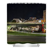 Adelaide Riverbank At Night II Shower Curtain