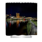Adelaide Riverbank At Night Iv Shower Curtain