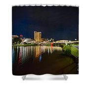 Adelaide Riverbank At Night Vi Shower Curtain