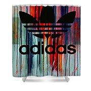 Adidas Plakative - Typografie Shower Curtain
