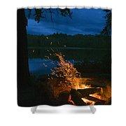 Adirondack Campfire Shower Curtain