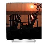 Adirondack Chairs-1 Shower Curtain