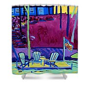 Adirondack Float Long Sought For Pond Westford Ma Shower Curtain