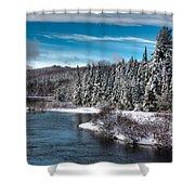 Adirondack Snowfall Shower Curtain