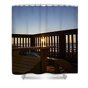 Adirondack Sunrise Shower Curtain