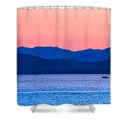 Adirondack View At Lake Champlain Shower Curtain by Sven Kielhorn