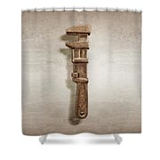 Adjustable Wrench Left Face Shower Curtain